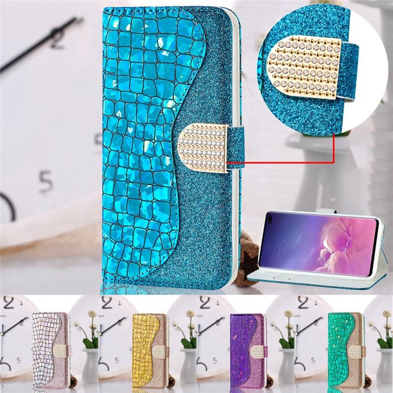 Glitter-Case Wallet Plus-Cover Bling Samsung Galaxy S10 5g For S10E S9 S8 Flip-Funda