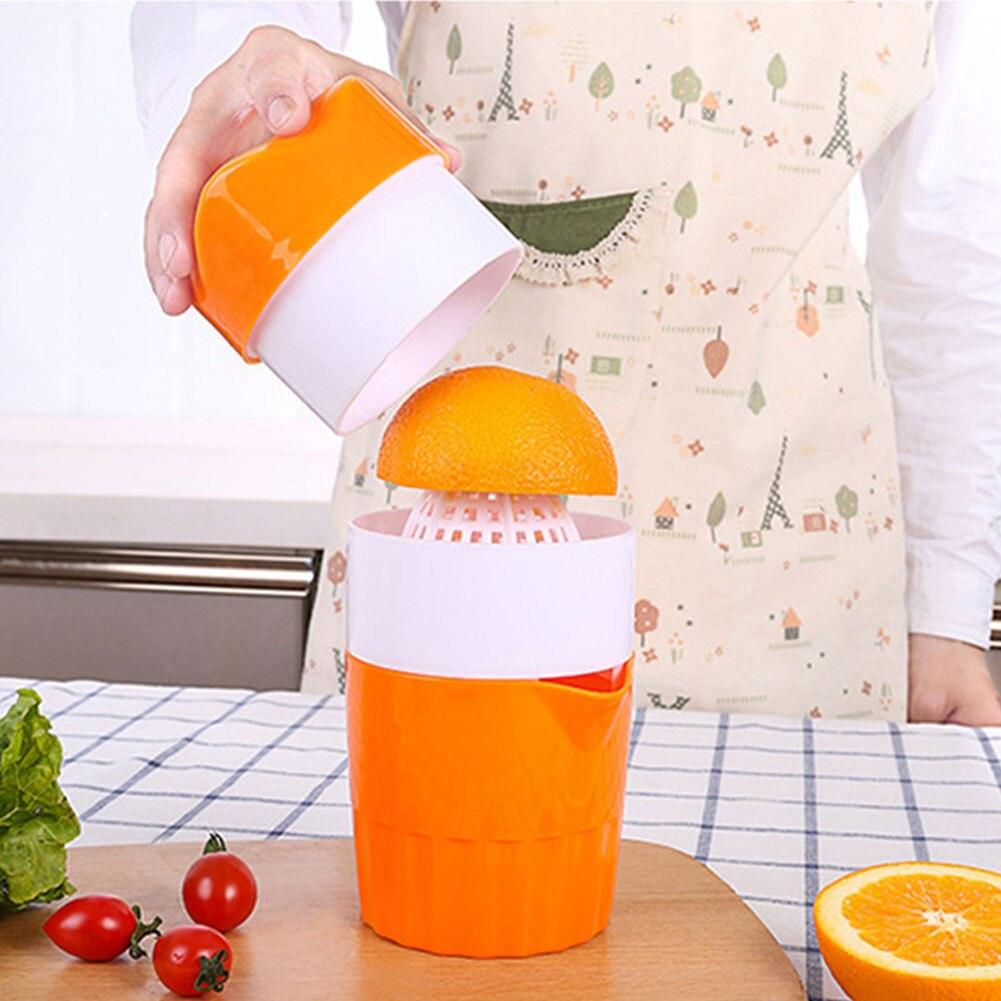 عصارة الحمضيات اليدوية المحمولة عصارة فاكهة الليمون البرتقال 100% أكواب عصير البرتقال الأصلي الطفل حياة صحية 300 مللي ماكينة صنع العصير