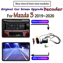 Rear-View-Camera Car-Screen-System Parking Mazda3 for Cam-Module Decoder Upgrading Front