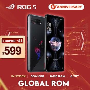 "NEW ASUS ROG Phone 5 Global ROM Snapdragon888 128/256GB Android11 6000mAh 6.78"" Display Fast Charging 65W ROG5 Gaming Phone"