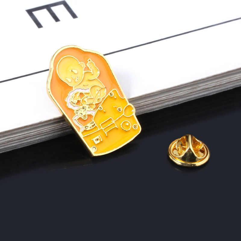 Pc Game Death Stranding Pins Broches Leuke Cartoon Bridge Baby Bb Badge Emaille Broche Lady Mannen Revers Rugzak Sieraden Gift