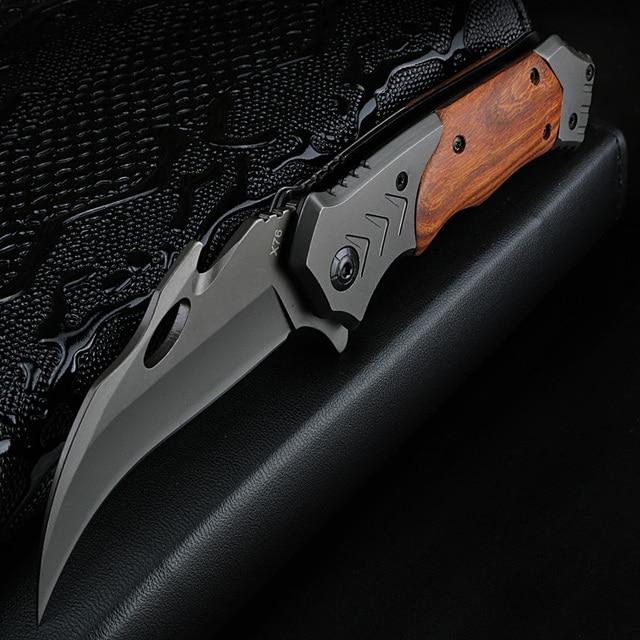 XUANFENG חיצוני סכין מתקפל סכין קמפינג קשיות גבוהה סכין טקטי נייד סכין wild הישרדות טופר סכין