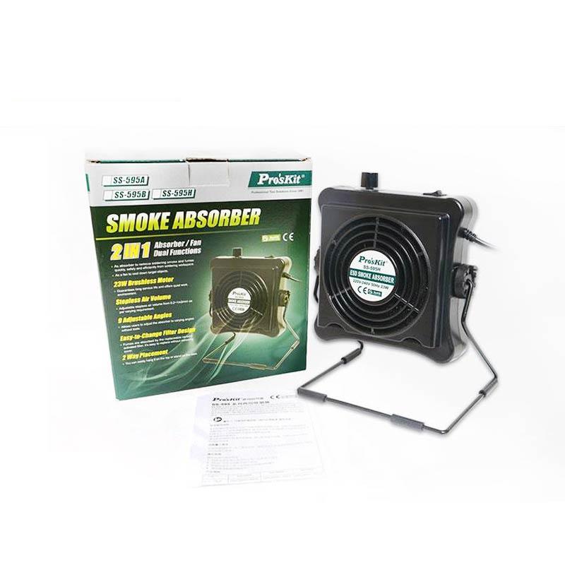 New Pro'skit SS-595H 220V 23W Solder Smoke Absorber Fume Extractor Air Filter Smoke Fan For BGA Soldering Rework