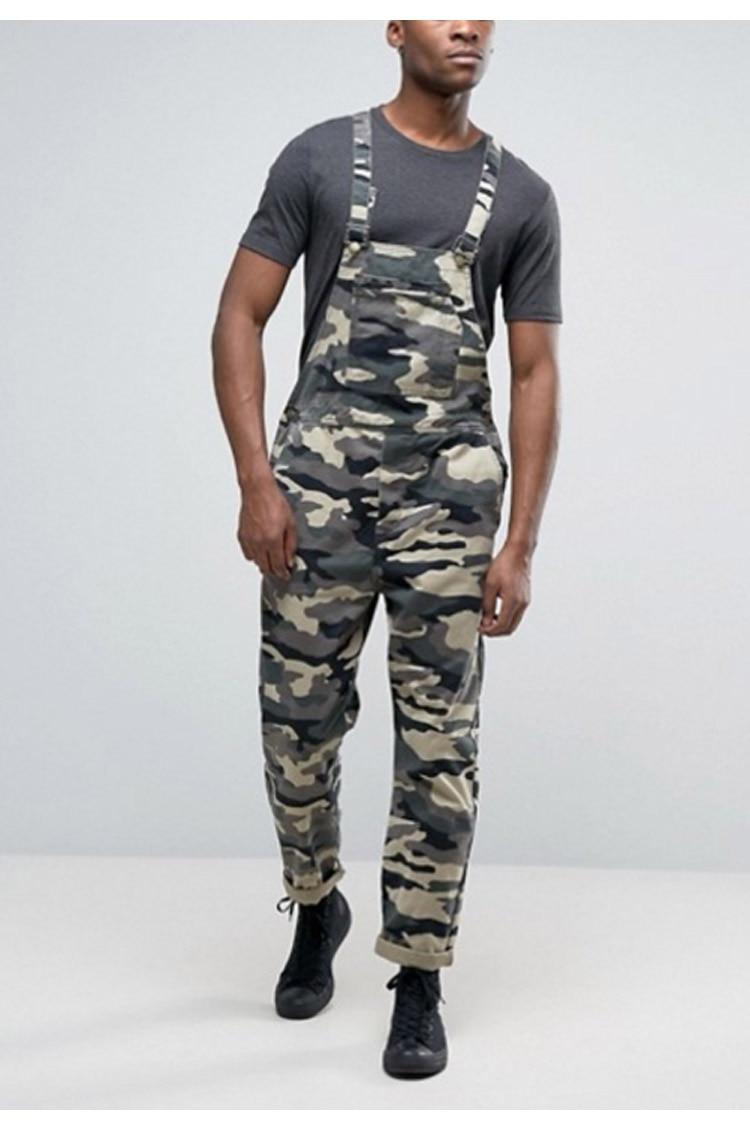 Men's Camouflage Jumpsuit Pants Bib Overalls Tracksuit Camouflage Print Jeans Tracksuit Work Uniform Summer Sleeveless Overalls (3)