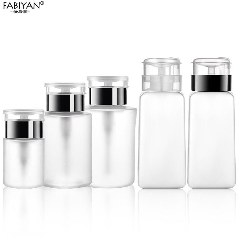 Distribuidor de esmalte para unhas, garrafa de arte para armazenamento de unhas, 60/150/180/250ml recipiente limpo uv em gel, ferramentas