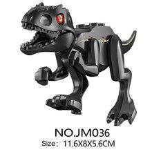 Novos blocos animais dinossauro bloco de construção crianças diy montagem dinossauro puzzle grupo montagem dinossauro brinquedos