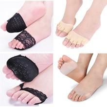 Semelles intérieures en Silicone, coussinets de Gel pour l'avant-pied, demi-mètre, coussin Anti-frottement, soulagement de la douleur, respirant, orthèse, coussin, soins des pieds