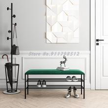 Shoe-Rack Entry-Light Luxury Door Cushion Soft-Bag Italian-Style Household
