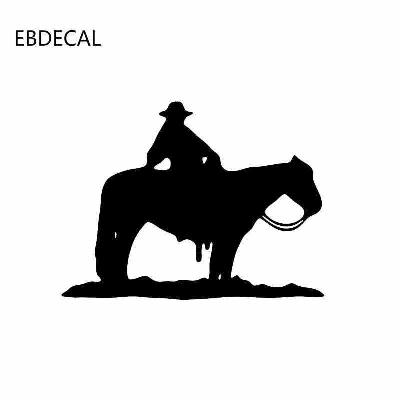 Atlı spor dekor komik Sticker çıkartması yansıtıcı lazer motosiklet araba Styling vinil çıkartmalar EBDECAL CT30290