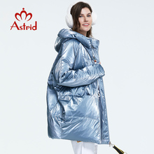 Astrid 2019 Winter new arrival down jacket women loose clothing outerwear quality thick cotton medium length winter coat FR-7078