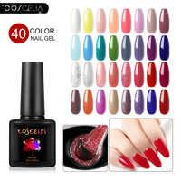 COSCELIA 10PCS Gel Varnish Set For Nail Art Vernis Semi Permanant Uv Gel Polish 40 CoLors Gel Nail Polish All For Manicure