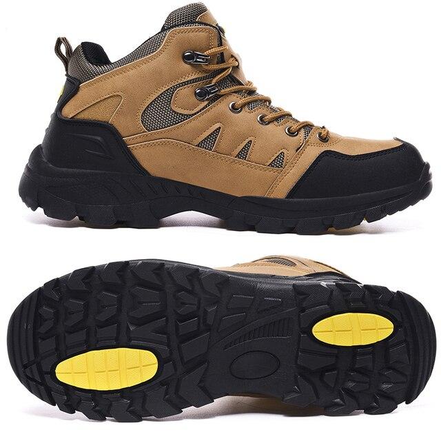 Jackshibo Men's Outdoor Hiking Shoes Mountaineer Climbing Sneakers Waterproof Tactical Hiking Shoes Men Camping Walking Boots 2