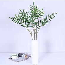1 Branch Artificial Plastic Plant Leaves Foliage Wedding Party Home Decoration Realistic Decor Lifelike with vivid color
