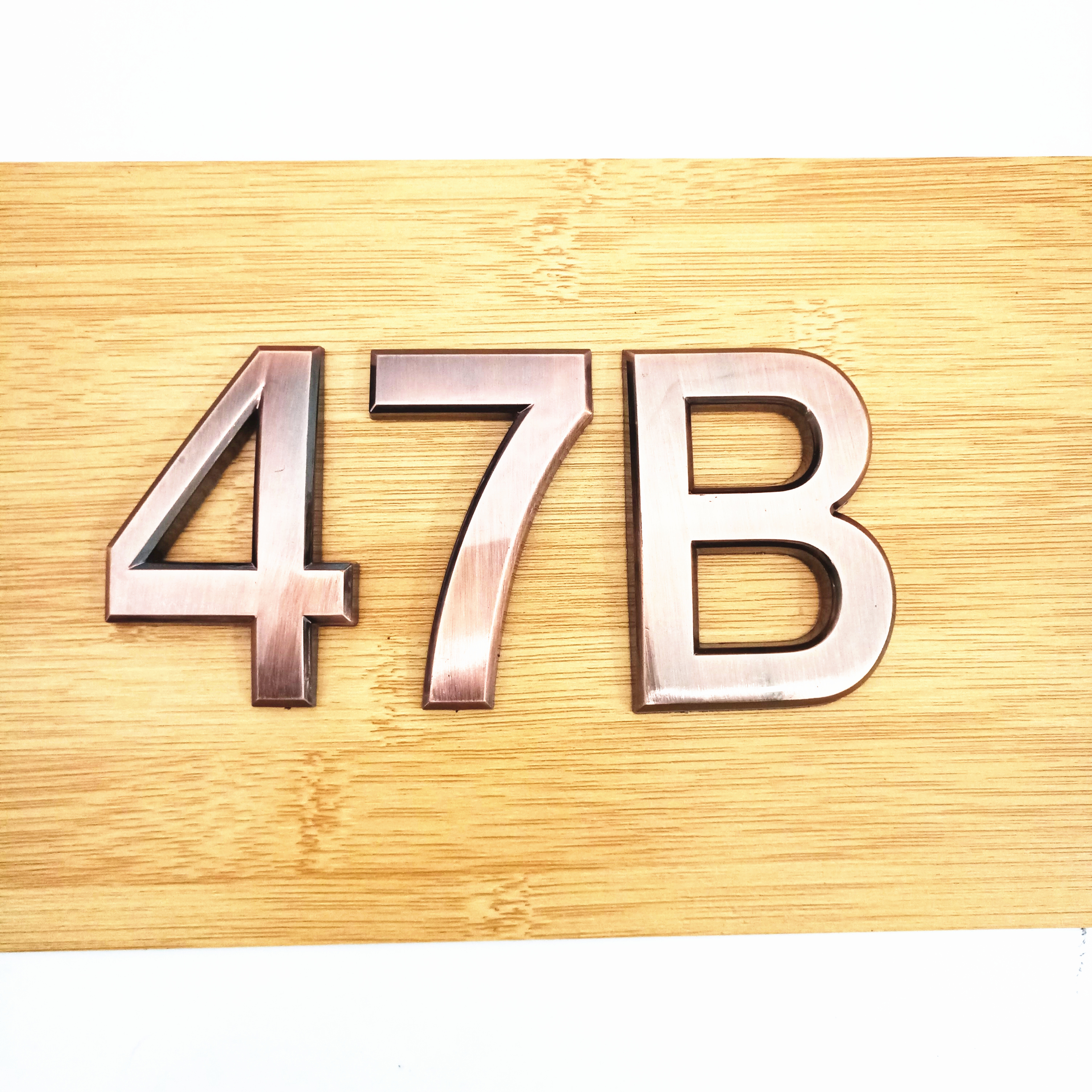 5cm/7cm Door Plate 0123456789A-Z Bronze Color ABS Plastic Plaque Number House Hotel Door Address Digits Sticker Plate Sign(China)