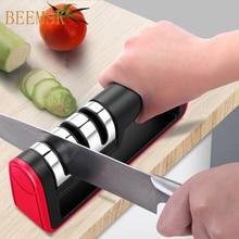 BEEMSK سكين احترافي مبراة الماس سريعة المهنية 3 مراحل مبراة سكين شحذ أدوات شحذ الحجر
