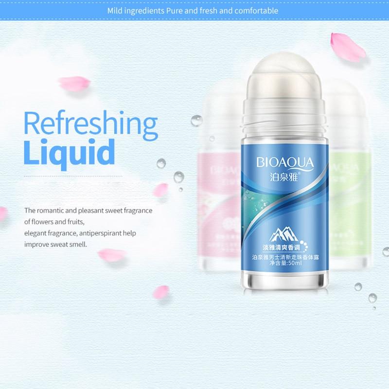 Newly BIOAQUA Ball Body Lotion Antiperspirants Underarm Deodorant Roll On Bottle Women Fragrance Men Smooth Dry Perfumes CLA88