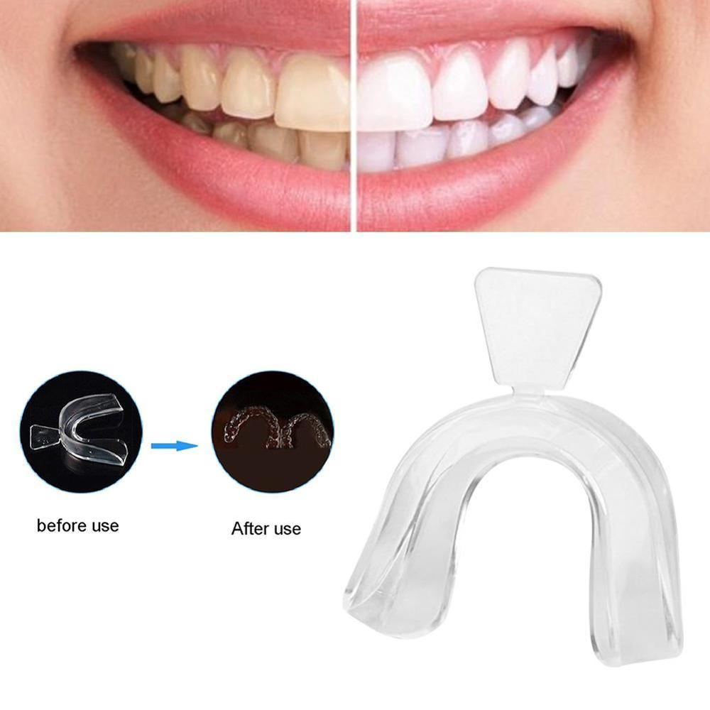 New 2pcs Night Silicone Mouth Guard For Clenched Teeth Grinding Sleep Aid Teeth Whitening Tray For Mouth Bite Dental