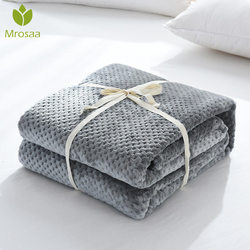 Nova Saída Da Cama Cobertor de Flanela Fleece Throw Blanket Viagem Suave Cor Sólida Lençol Colcha Cobertura para Cama Sofá de Pelúcia Quente