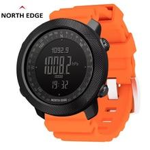 North Edge Men Sports Watches Waterproof 50M  Digital Watch Men Military Compass Altitude Barometer