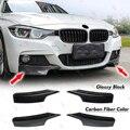 2 стиля сплиттер передний бампер комплект губ для BMW F30 F35 Седан 4 двери M-Tech M Sport 2014-2019