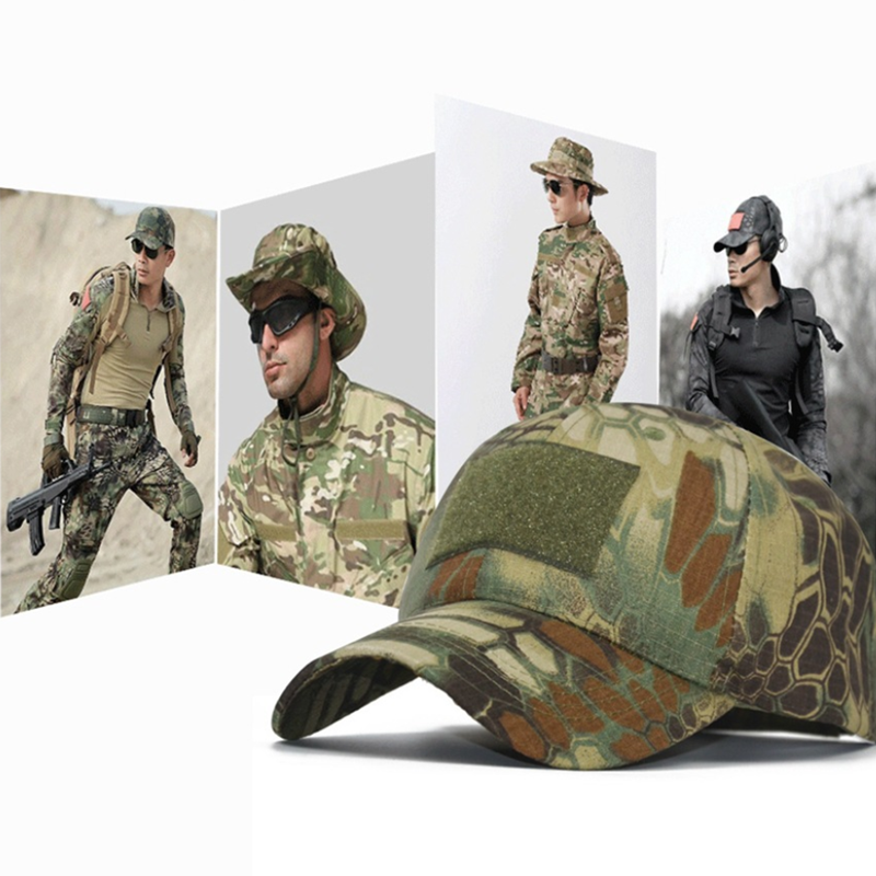 Actical Army Cap Outdoor Sport Snapback Stripe Military Cap Camouflage Hat Simplicity Army Camo Hunting Cap Scarf For Men Adult