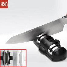 Livraison rapide HUOHOU HU0045 aiguiser pierre Double roue aiguiseur de pierre à aiguiser k nife outil daffûtage outils de cuisine de meule
