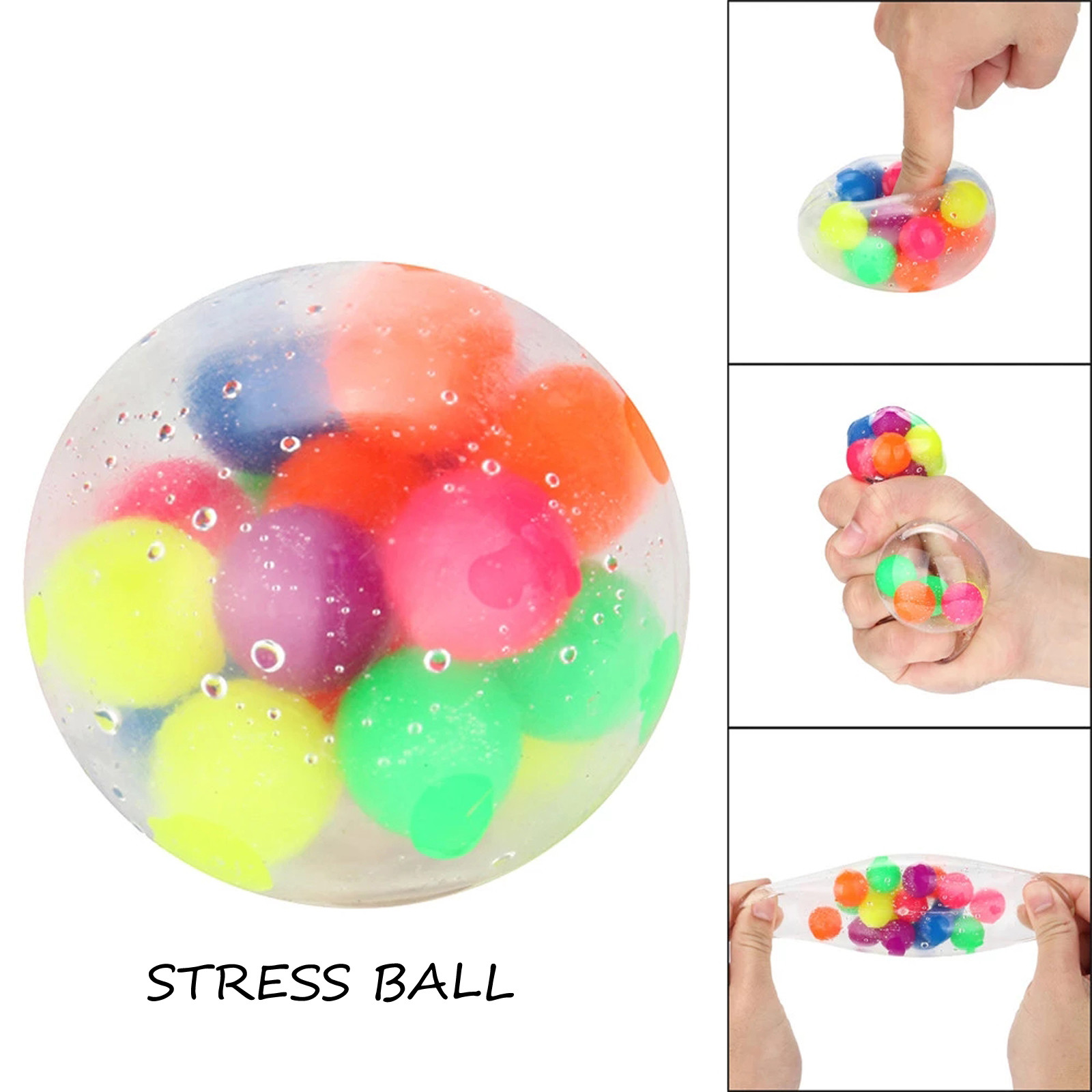 Figet Toys Stress-Ball Popit Pressure-Ball-Stress Reliever Color-Sensory 2PCS Office