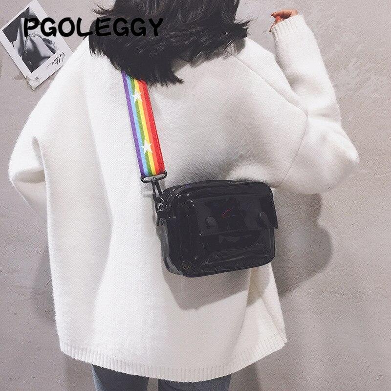 Image 4 - PGOLEGGY Laser Crossbody Bags for Women 2019 Fashion handbag  luxury women PU leather shoulder bags for travel waterproof  handbagShoulder Bags