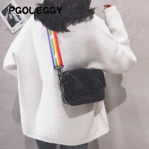 Image 4 - PGOLEGGY lazer kadınlar için Crossbody çanta 2019 moda çanta lüks kadın PU deri omuz çantaları seyahat için su geçirmez çanta