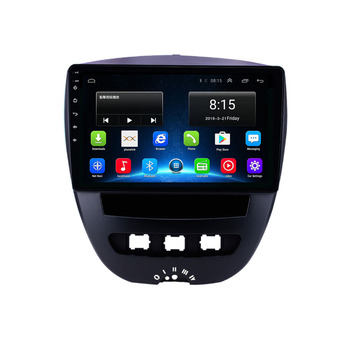 9 octa core 1280*720 QLED screen Android 10 Car GPS radio Navigation for Peugeot 107 Toyota Aygo Citroen C1 2005-2014 image