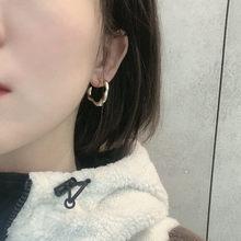 Coreano moda personalidade brincos irregular design simples boutique jóias feminino selvagem cobre banhado a ouro