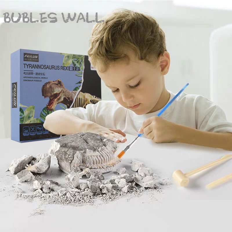 Dinosaur Fossil Excavation Toys Science Educational Dig Kit Kids Birthday Gift Toys For Children Educational Archaeological Game