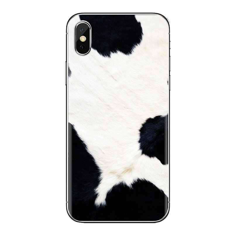 עבור Huawei נובה 2 3 2i 3i Y6 Y7 Y9 ראש Pro GR3 GR5 2017 2018 2019 Y5II Y6II לבן שחור פרה סמל סיליקון טלפון עטיפות