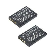 DuraPro – 2 batteries Li-ion, 1200mAh, NP-60 NP60, pour Samsung SLB-1037, Fujifilm NP-60, Kodak KLIC-5000, Olympus Li-20B