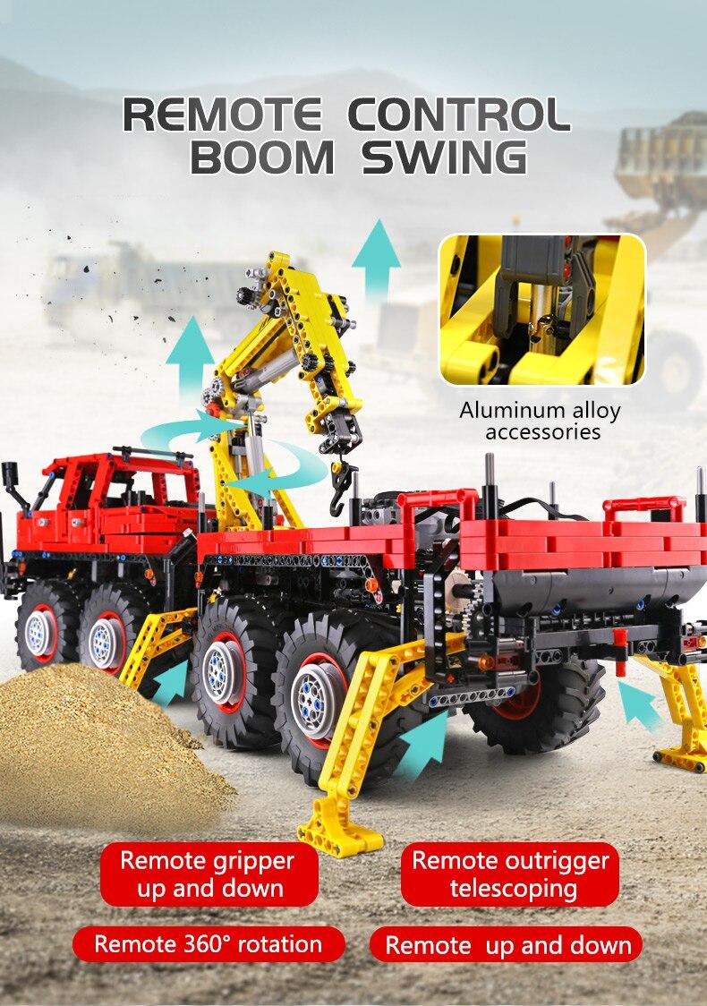 MOULD KING  Technic Motor Power Mobile Crane Mk II Building Block 10