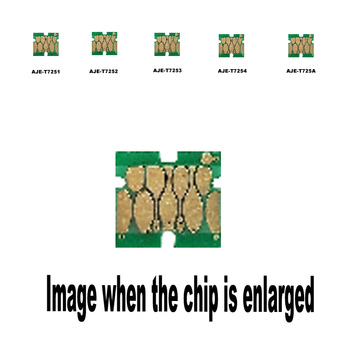5pack T7251-4 T725A for Epson Wide-format ink cartridge disposable chip F2000