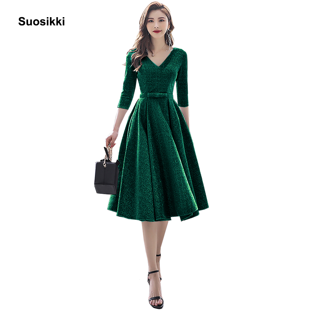 Suosikki New Arrival 2020 Formal Short Prom Dresses Elegant Plus Size Vestdios Evening Party Gown