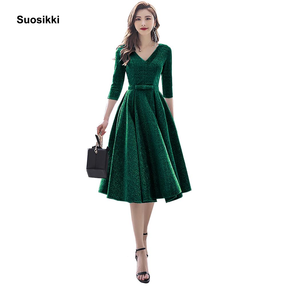 Suosikki New Arrival 2020 Formal Short Prom Dresses Elegant Plus size Vestdios evening Party Gown