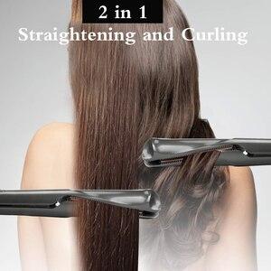 Image 5 - 2 で 1 ヘアカーラーツイスト髪ストレートプロのヘアカーリング鉄ローラーヘアーウェイバーサロンカーリーヘアドライヤーディフューザー鉄カーラー髪スタイラー