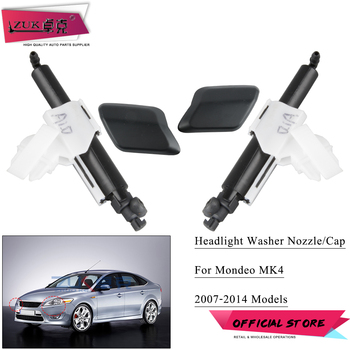 ZUK For FORD MONDEO MK4 2007-2014 Headlight Washer Nozzle Headlamp Water Sprayer Jet / Cover Cap Shell Unpainted image