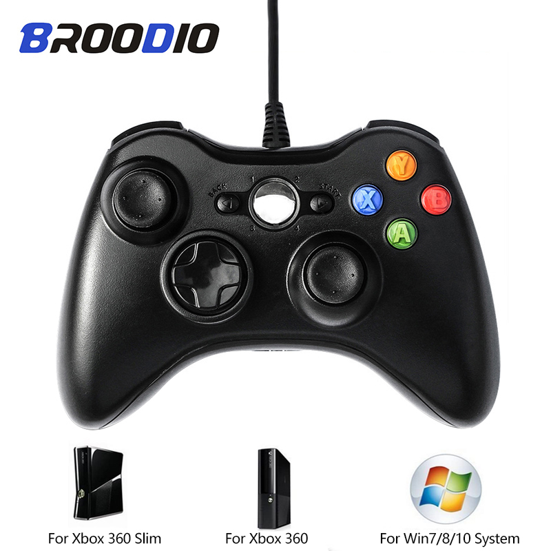 For Xbox 360 Wired USB Wired Dual Vibration Gamepad Joystick PC Controller For Window 7/8/10 For XBOX 360 Game Controller Joypad image