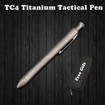 цена на High Quality Titanium TC4 Tactical Pen Self Defense Business Writing Pen Outdoor EDC Tool Pen Bag Christmas Gift