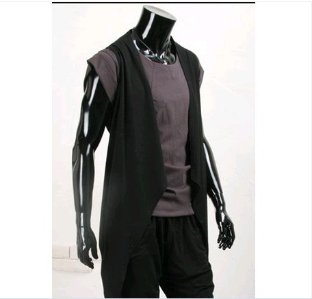 New Style Fashion Casual Irregular Storm No Buckle Design Slim Fit Versatile Sleeveless Cardigan Amount Of Running 975