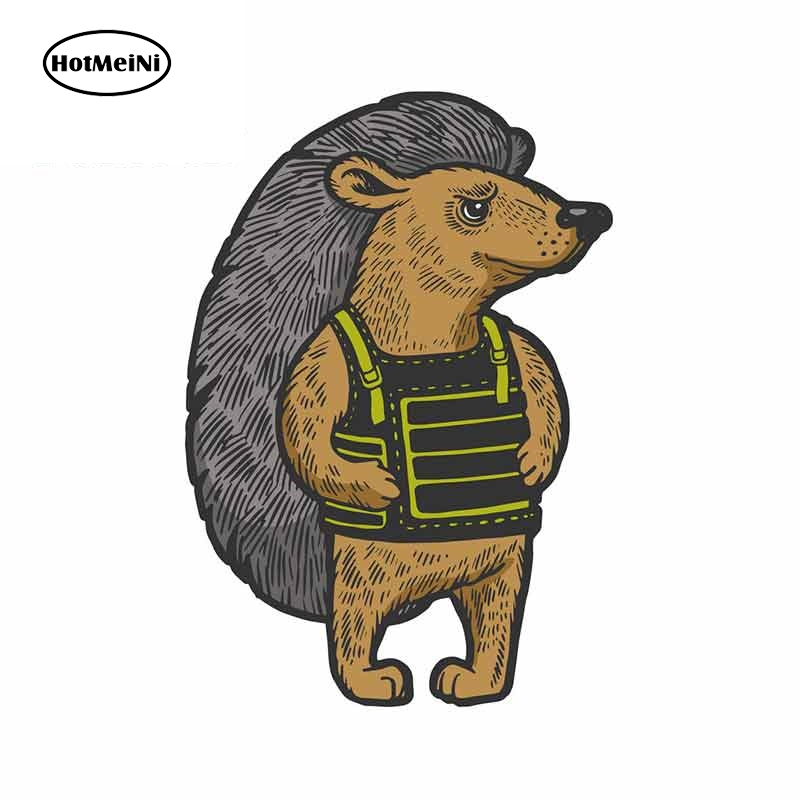 HotMeiNi 13cm x 9cm For Hedgehog Body Armor High Quality Car Stickers Car Accessories The Whole Body Scratch-Proof Vinyl Decal