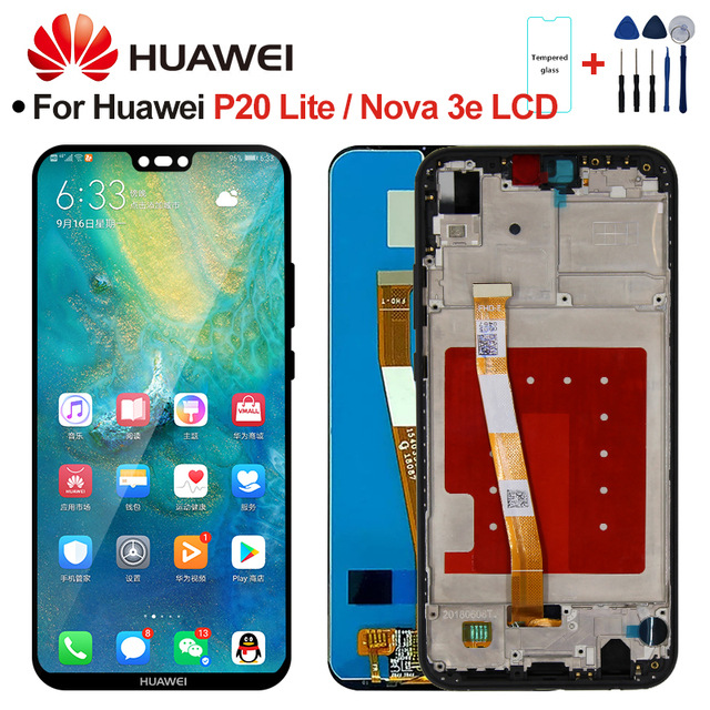 Ekran için HUAWEI P20 Lite LCD ekran ekran için HUAWEI P20 Lite ekran ANE LX1 ANE LX3 ekran Nova 3e LCD meclisi parçaları