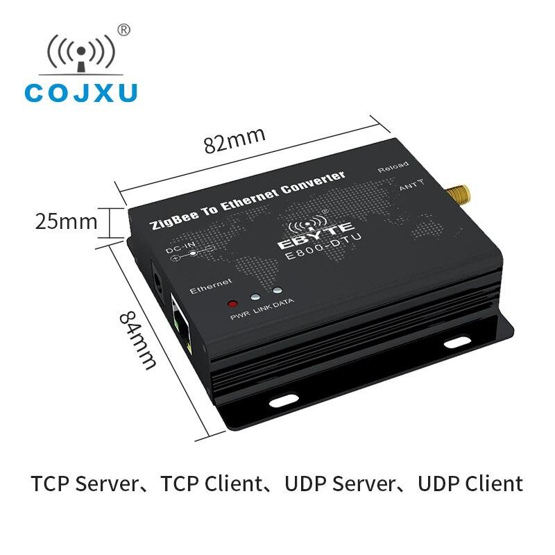 CC2530 módulo ZigBee Ethernet 2,4 GHz 27dBm 500mW RJ45 TCP, UDP red Ad hoc E800-DTU (Z2530-ETH-27) módem transceptor rf Antena Wifi Superbat Yagi 2,4 GHz 16dBi Booster Wireless-G para 802.11b/g/n WLAN RP-SMA Cable de enchufe macho 5m extensión de largo alcance