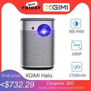 Image 1 - Мини проектор XGIMI Halo Full HD DLP, Android 9,0, Wi Fi, портативный, поддержка 4K видео ТВ, 3D домашний кинотеатр с аккумулятором, Google OS проектор.