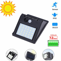 30 LED luz Solar para exteriores lámpara Solar PIR Sensor de movimiento luz de pared impermeable IP65 Solar Powered luz Solar para decoración de jardín