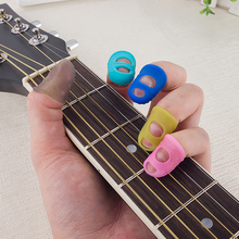 4 в 1 гибкий наперсток силиконовый Finger Guard Fingertip Для Гавайская гитара бас гитара аксессуары дропшиппинг