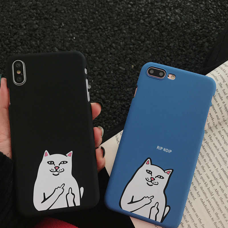 Художественный креативный средний палец кошка чехол для телефона iPhone X XS XR XSmax 8 7 6